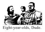 Skiffleboom Big Lebowski Eight Year Olds Dude